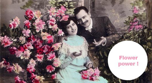 couple fleurs bonheur