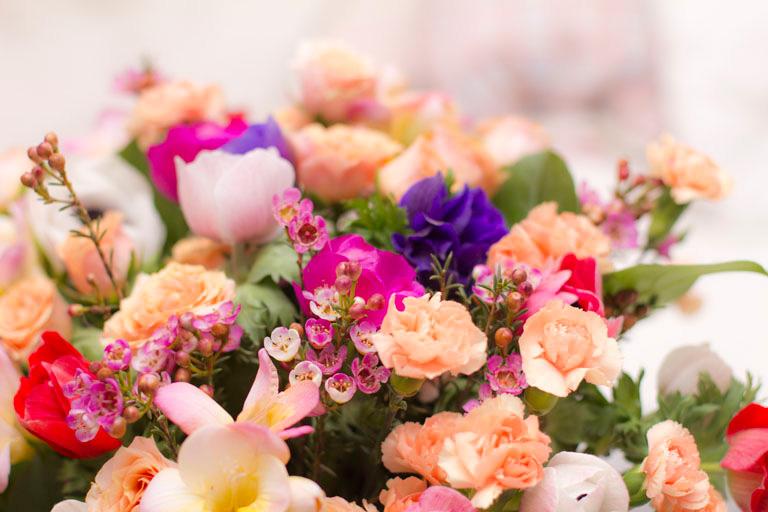 bouquet fleurs oeillets