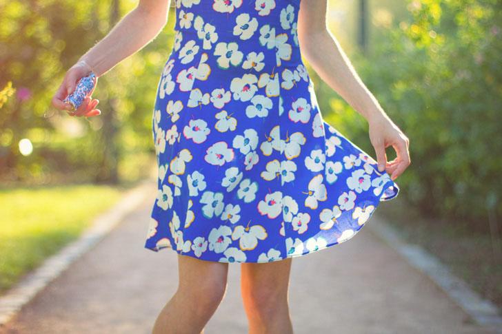 robe fleurs