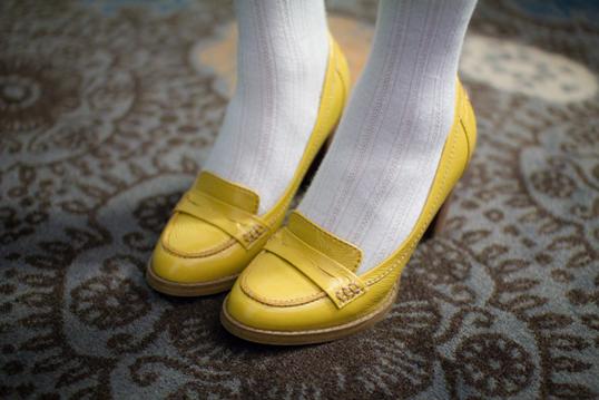 mocassins jaunes