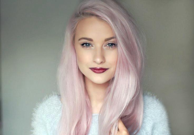 Cheveux Gris Rose Pastel Coiffures Populaires 2019