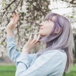 Cheveux violets bleus-63