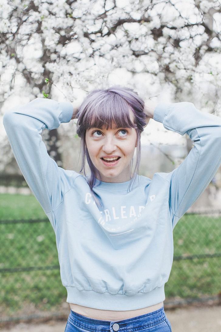 Cheveux violets bleus-73