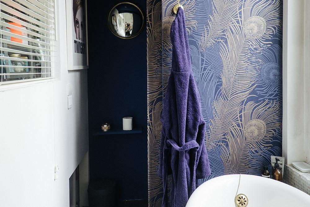 Le Coin Toilettes Apres Peinture Farrow Ball Drawing Room Blue