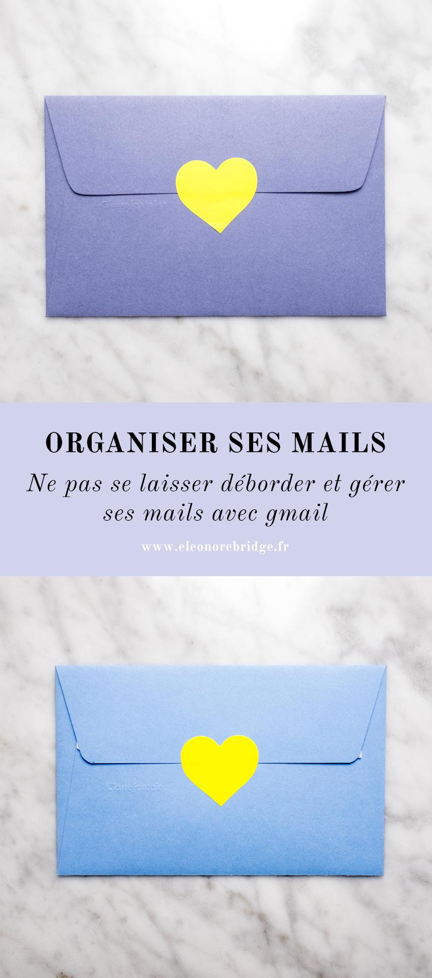 Organiser et ranger ses mails avec gmail : trucs et astuces pour utiliser les libellés, catégories, réponses automatiques. Mes tutos pour utiliser gmail et apprendre à gérer efficacement sa boîte mail sans stress.