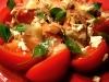 Salade tomates/speck/feta/basilic