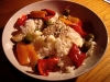 Riz au thon, poivrons, olives et sésame